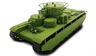 готовая модель танка T-35 (1936)