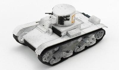 готовая модель танка Т-26 с башней БТ-2