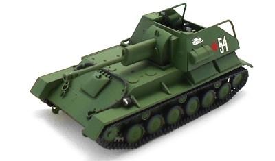 готовая модель танка СУ-76М