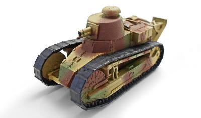 готовая модель танка Renault FT