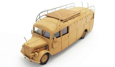 готовая модель автобуса Opel 3.6-47 Stabswagen