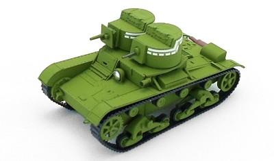 готовая модель танка Т-26 (1931)