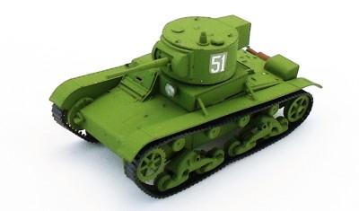 готовая модель танка Т-26 (цилиндр. башня)