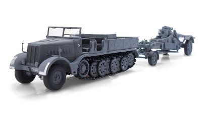 готовая модель грузовика 21cm Morser Kanone 18 FAMO