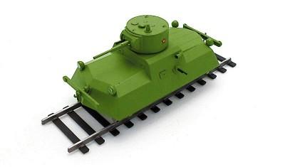 готовая модель Бронедрезина ДТ-45
