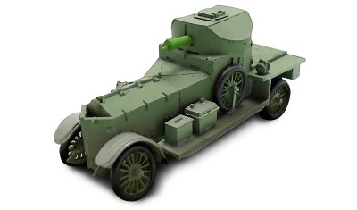 diecast military vehicle Rolls Royce 1914