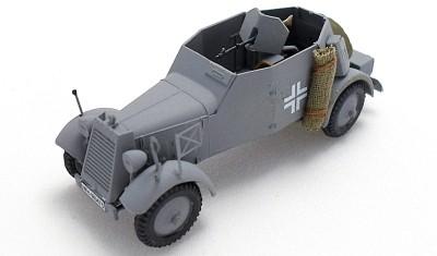 готовая модель бронеавтомобиля Kfz.13 Adler