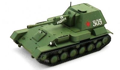 готовая модель танка СУ-76