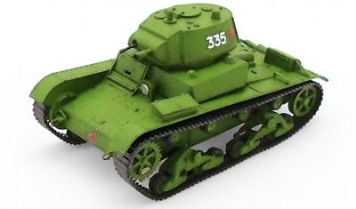 готовая модель танка OT-133