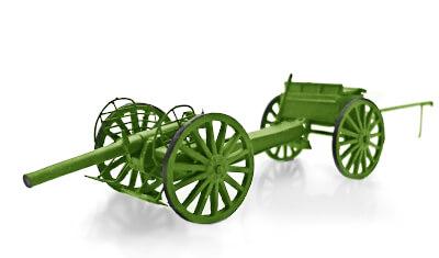 diecast 3' gun 1900-1902