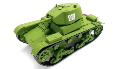 готовая модель танка T-26 (1939)