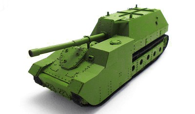 готовая модель танка СУ-14-2
