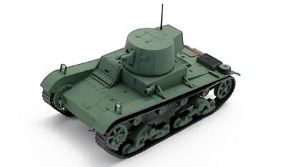 готовая модель танка Vickers E Ver. F