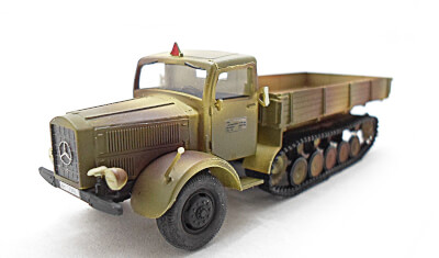 готовая модель грузовика MB L4500-R Maultier