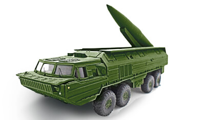 diecast military vehicle 9K714 OKA