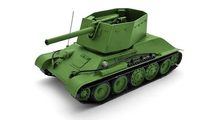 diecast tank T-34 SPG