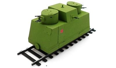 готовая модель Ленинградская бронедрезина