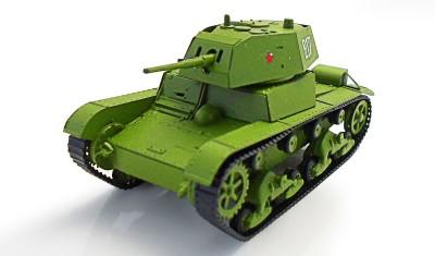 готовая модель танка T-26 (с броней)