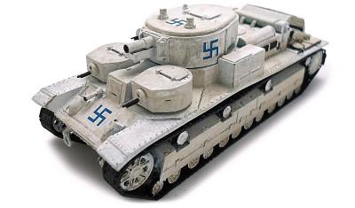 готовая модель танка Т-28/Л-10