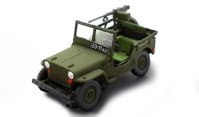 diecast car Willys MB