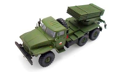 готовая модель грузовика БМ-24 Град