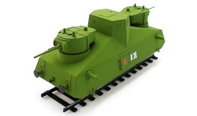 готовая модель Бронедрезина Д-3