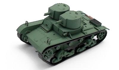 готовая модель танка Vickers E Ver. A