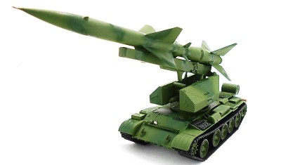 готовая модель танка ЗРК С-75 / Т-55