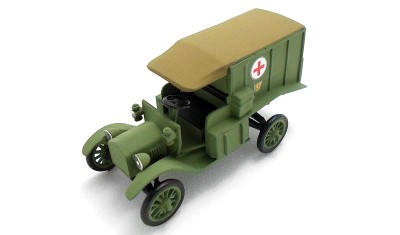 diecast military vehicle Ford-T Ambulance