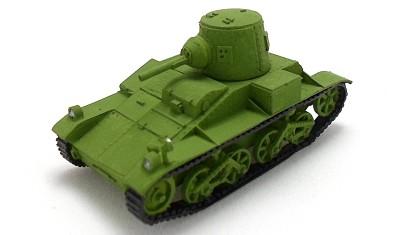 готовая модель танка Belgian T15