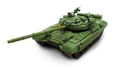 готовая модель танка Т-72Б1