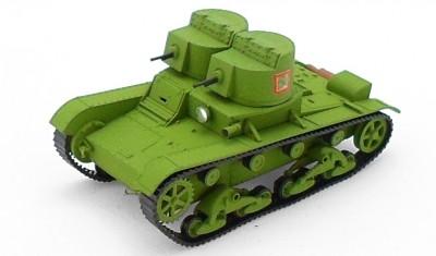 готовая модель танка Т-26 (1931) пулеметный