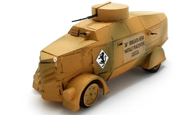 diecast military vehicle Lancia Blindatt