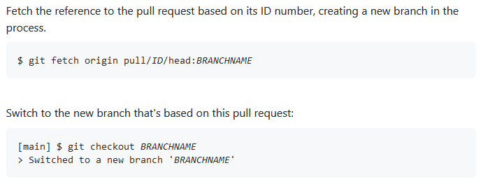 Checking out pull requests locally