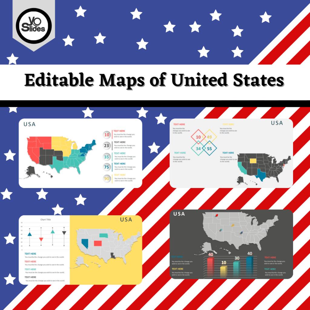 Editable Maps of United States