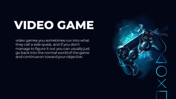 Video Game Pitch Deck Template