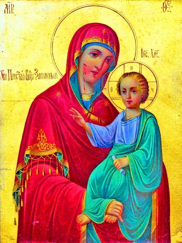 иконе Божией Матери Закланная