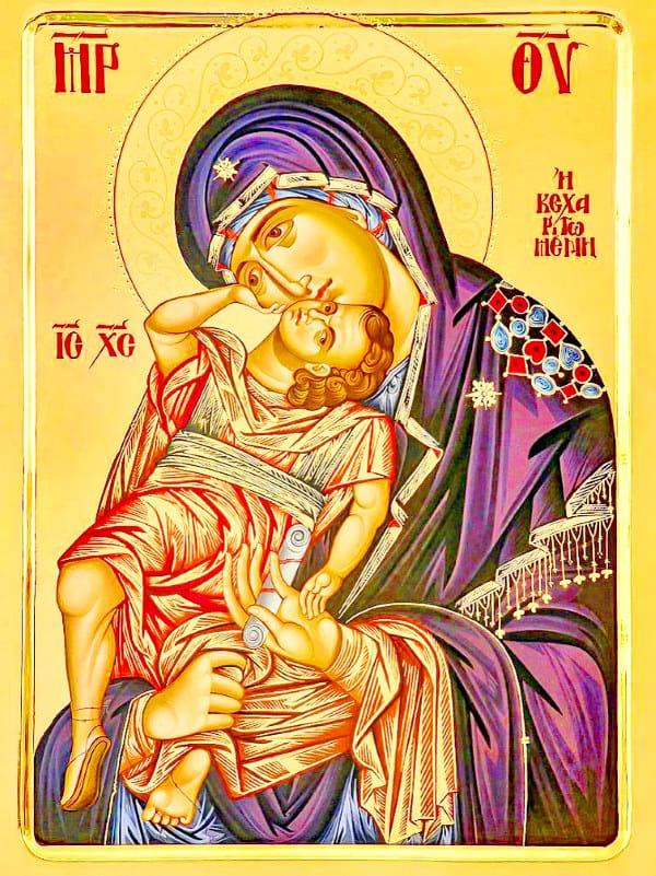 иконе Божией Матери «Взыграние Младенца»