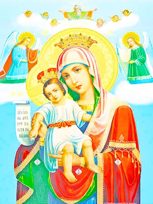 иконе Божией Матери «Достойно есть» (Милующая)