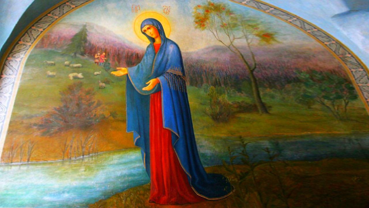 иконе Божией Матери «У Источника» Пюхтицкая
