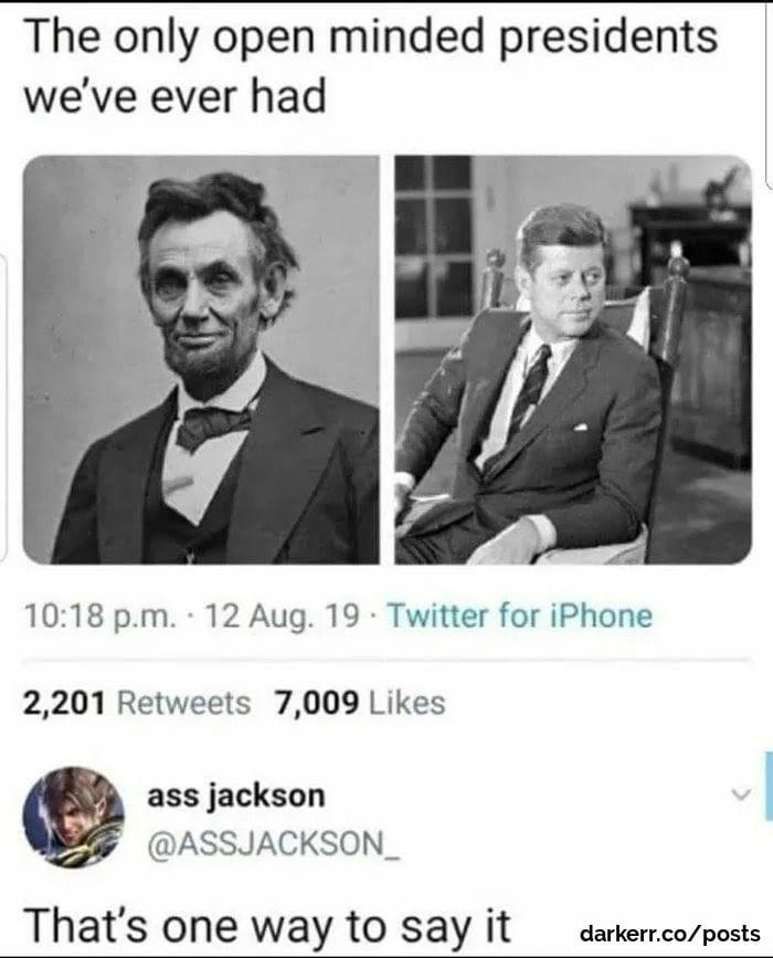 Meme about assassination, us politics,