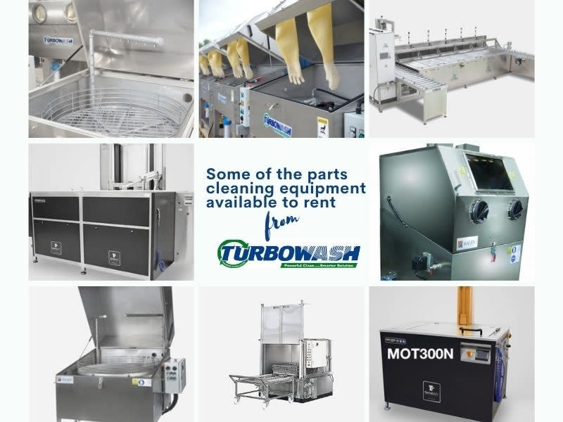 Lifetime warranty with leased parts washers