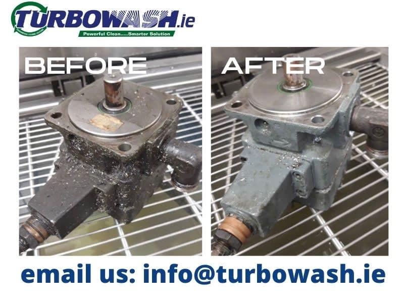 Tool machine components cleaned using ultrasonics