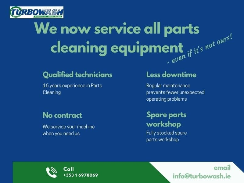 Does your business own a parts washer that needs servicing?