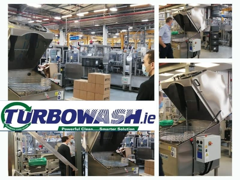Turbowash manual parts washer in a manufacturing company