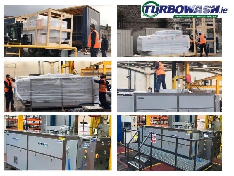 Unpacking and installation of an ultrasonic TT3000N tank