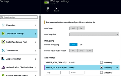 Enable Local Cache in Azure Web App