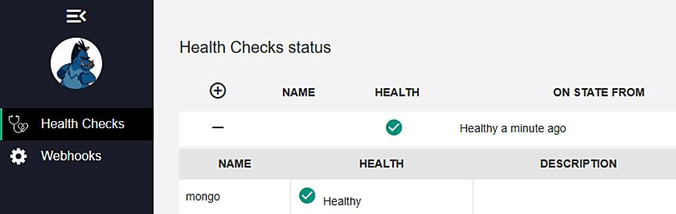 Adding Health Checks UI