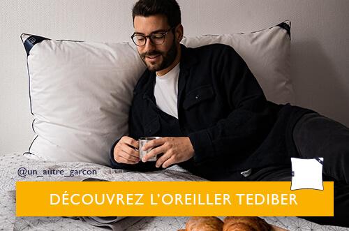oreiller carré Tediber