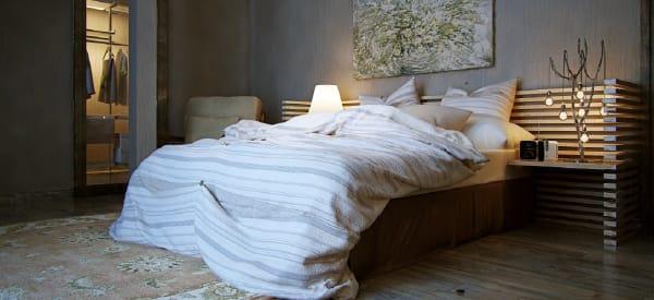lit coffre bois